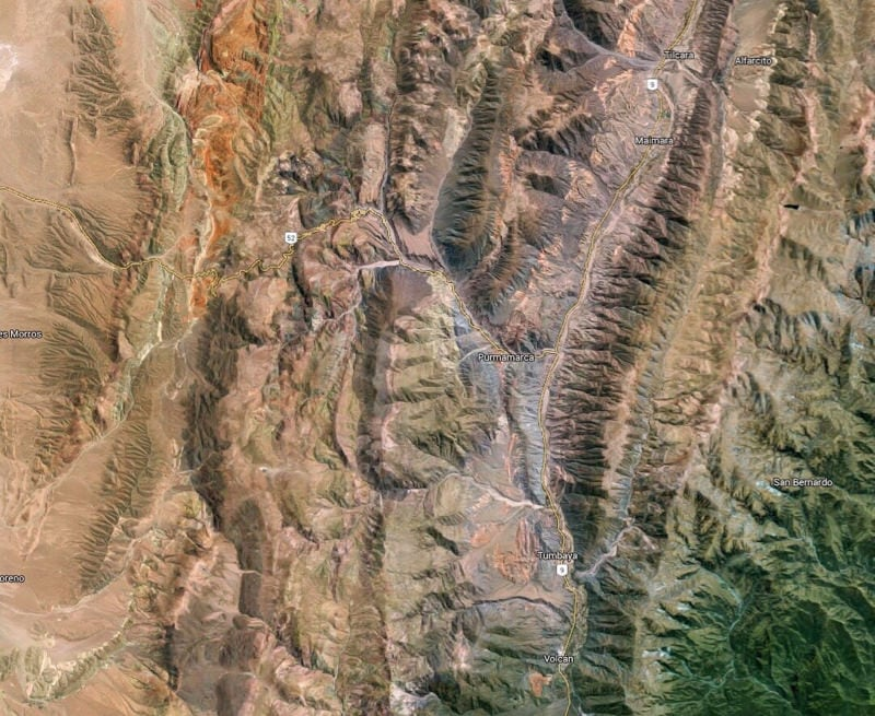 Jujuy Province Argentina from space
