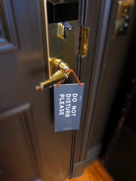 NoMad Hotel do not disturb