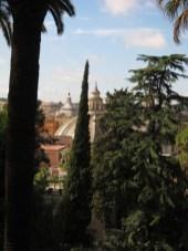Villa Borghese Gardens Rome view