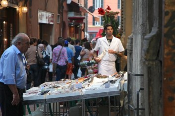 Bologna fish seller