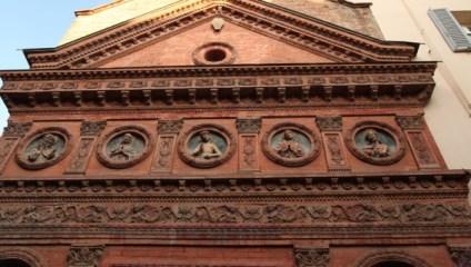 Bologna building pediment