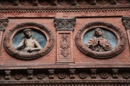 Bologna pediment detail
