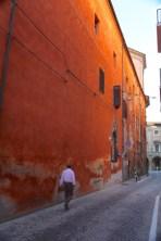 Bologna red street