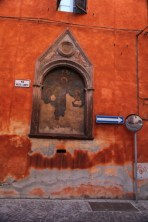 Bologna red street sign