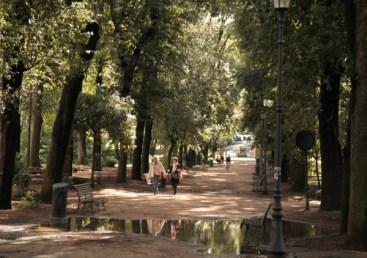 Villa Borghese Gardens path walking