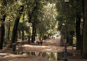 Villa Borghese Gardens path walking