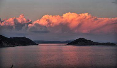 Il Pellicano dramatic sunset