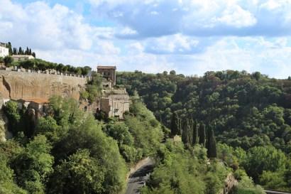Pitigliano valley trees