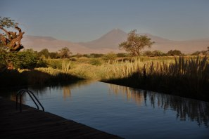 Tierra Atacama pool sunset