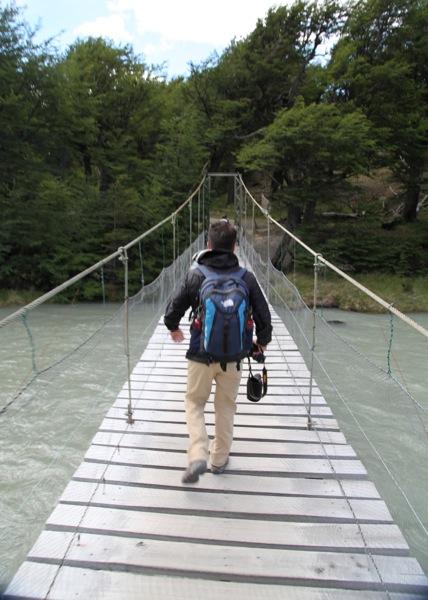 Torres del Paine Grey's Glacier bridge