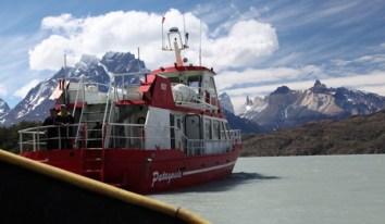 Torres del Paine Grey's Glacier boat