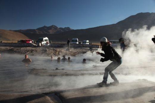 Tatio Geysers steam