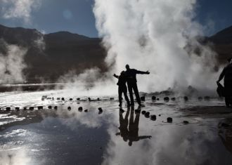 Tatio Geysers at 14,000ft above sea level. Amazing that 4,000 feet higher than the driest place on earth are these steaming, flumphing, gassy beasts. Something's going on downstairs...