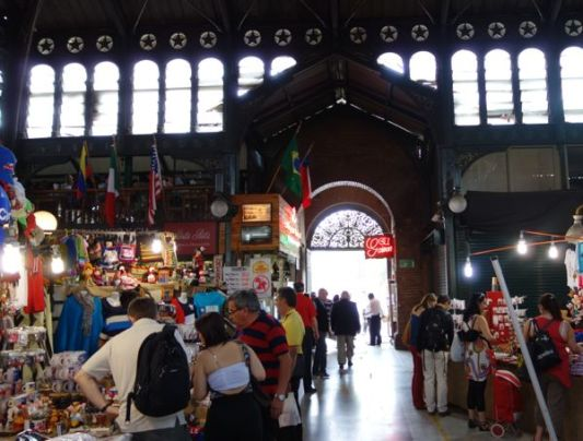 Santiago El Mercado Centrale fish stalls