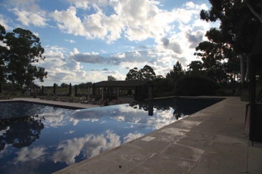 Four Seasons Carmelo pool reflections