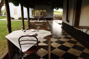 Narbona Wine Lodge terrace