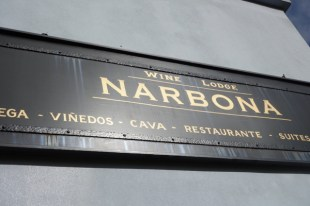 Narbona Wine Lodge sign