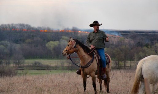 Flying W Ranch flames on ridge