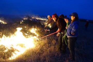 Flying W Ranch fire line people
