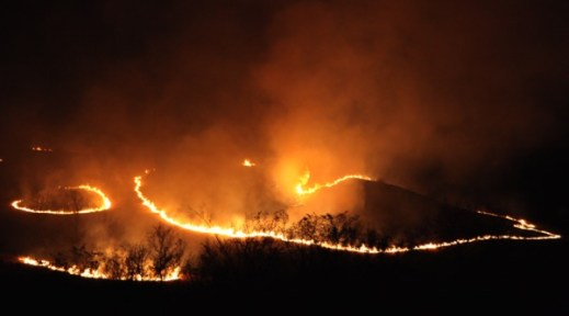 Flying W Ranch curving fire ridge