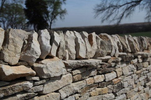 TALLGRASS PRAIRIE NATIONAL PRESERVE rock wall detail