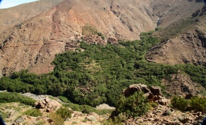 Hiking in the High Atlas village view