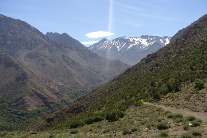 Hiking in the High Atlas valley