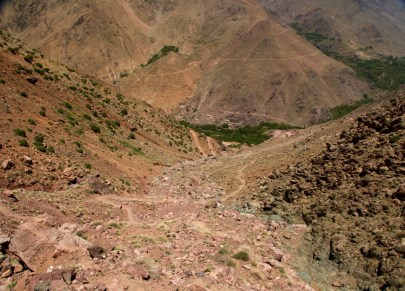 Hiking in the High Atlas high trail