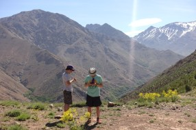 Hiking in the High Atlas pass