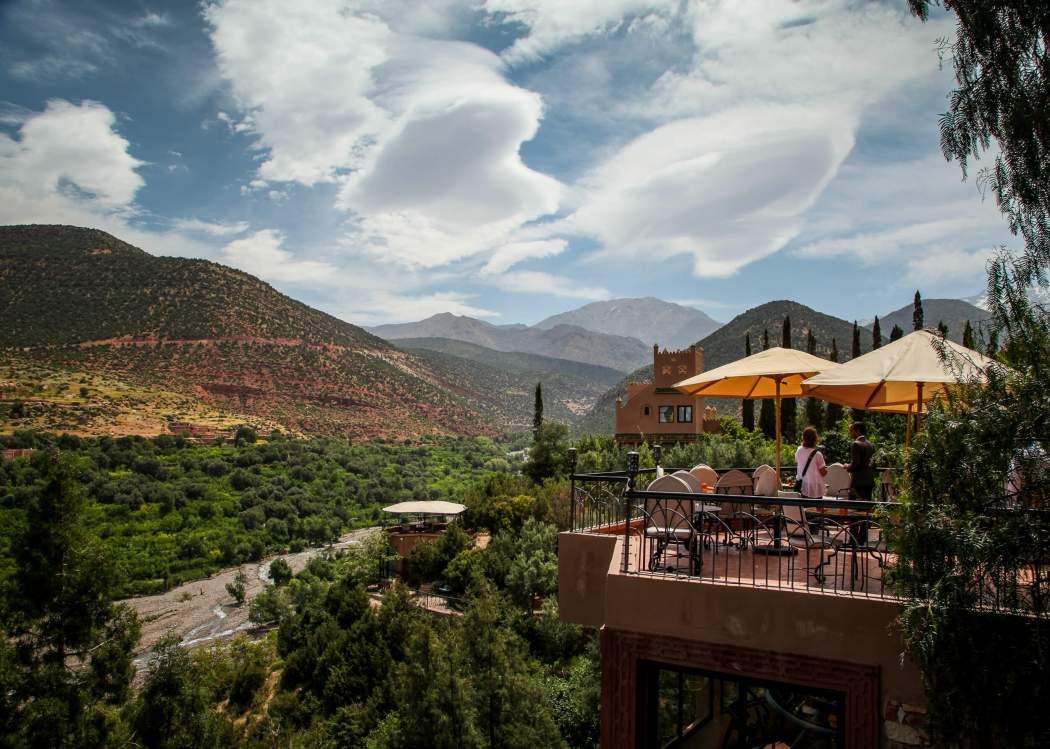 Kasbah Tamadot breakfast terrace