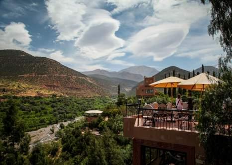 Kasbah Tamadot restaurant view