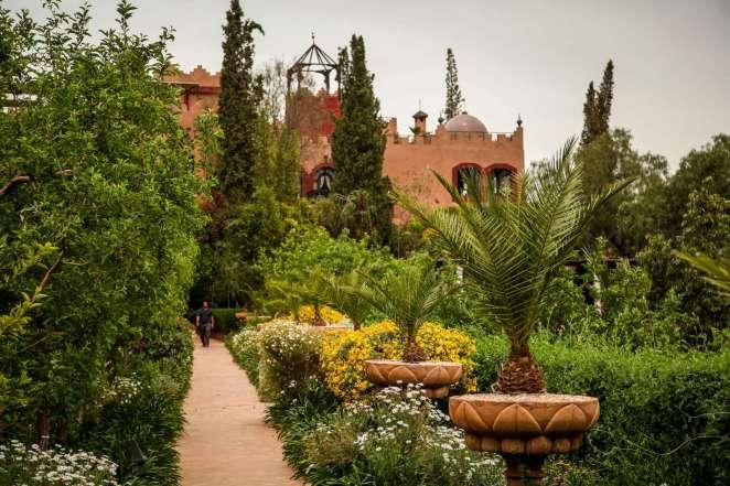 Kasbah Tamadot flower garden