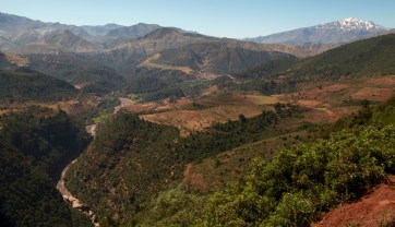 The road to Tizi n'Tichka pass