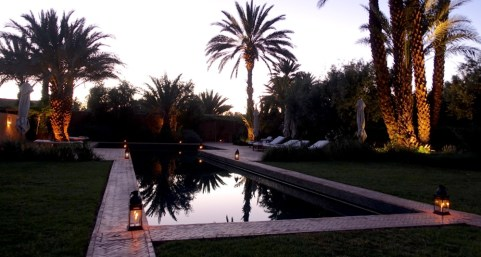 Dar Ahlam pool sunset