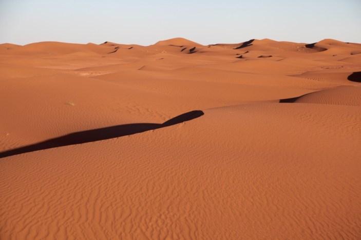 Dar Ahlam Tent Camp orange dunes