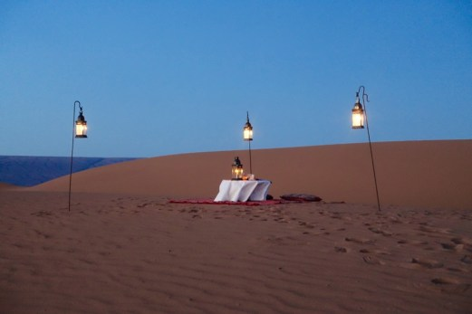 Dar Ahlam Tent Camp twilight