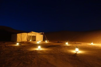 Dar Ahlam Tent Camp dining room