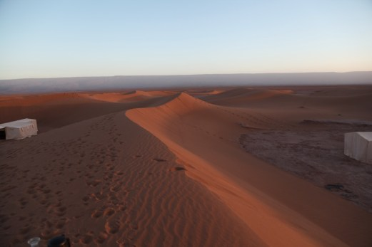 Dar Ahlam Tent Camp sunrise dunes