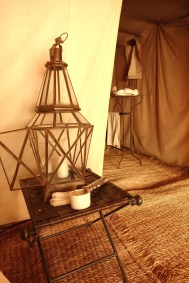 Dar Ahlam Tent Camp interior