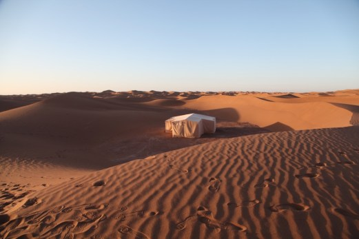 Dar Ahlam Tent Camp sunrise