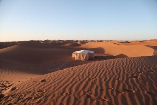 Dar Ahlam Tent Camp sunrise