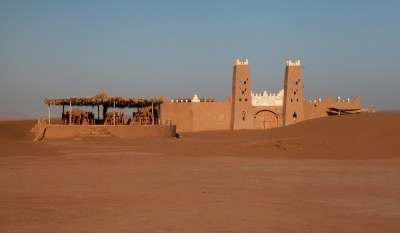 Dar Ahlam Tent Camp desert fort entrance