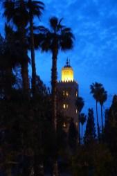 Marrakesh mosque tower dusk
