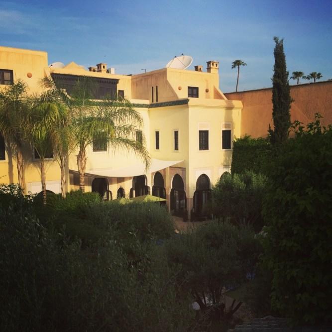 Villa des Orangers courtyard