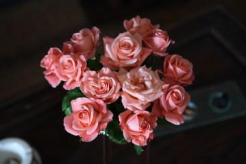Villa des Orangers terrace roses