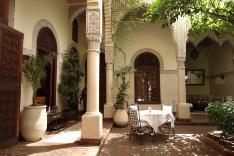 Villa des Orangers terrace restaurant