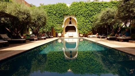 Villa des Orangers pool ivy