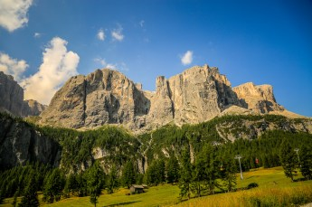 Passo Gardena and Colfosco mountains