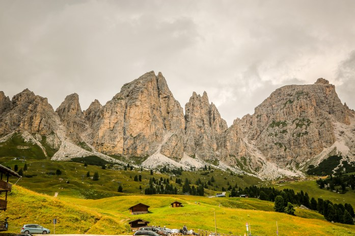 You pass these beautiful gnarly peaks coming over the Passo Gardena. I remember the first time I came here, it was pouring buckets in Val Gardena and I could hardly see. I popped over the pass and BOOM. These were staring straight at me.