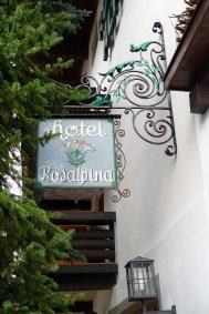 Hotel Rosa Alpina sign